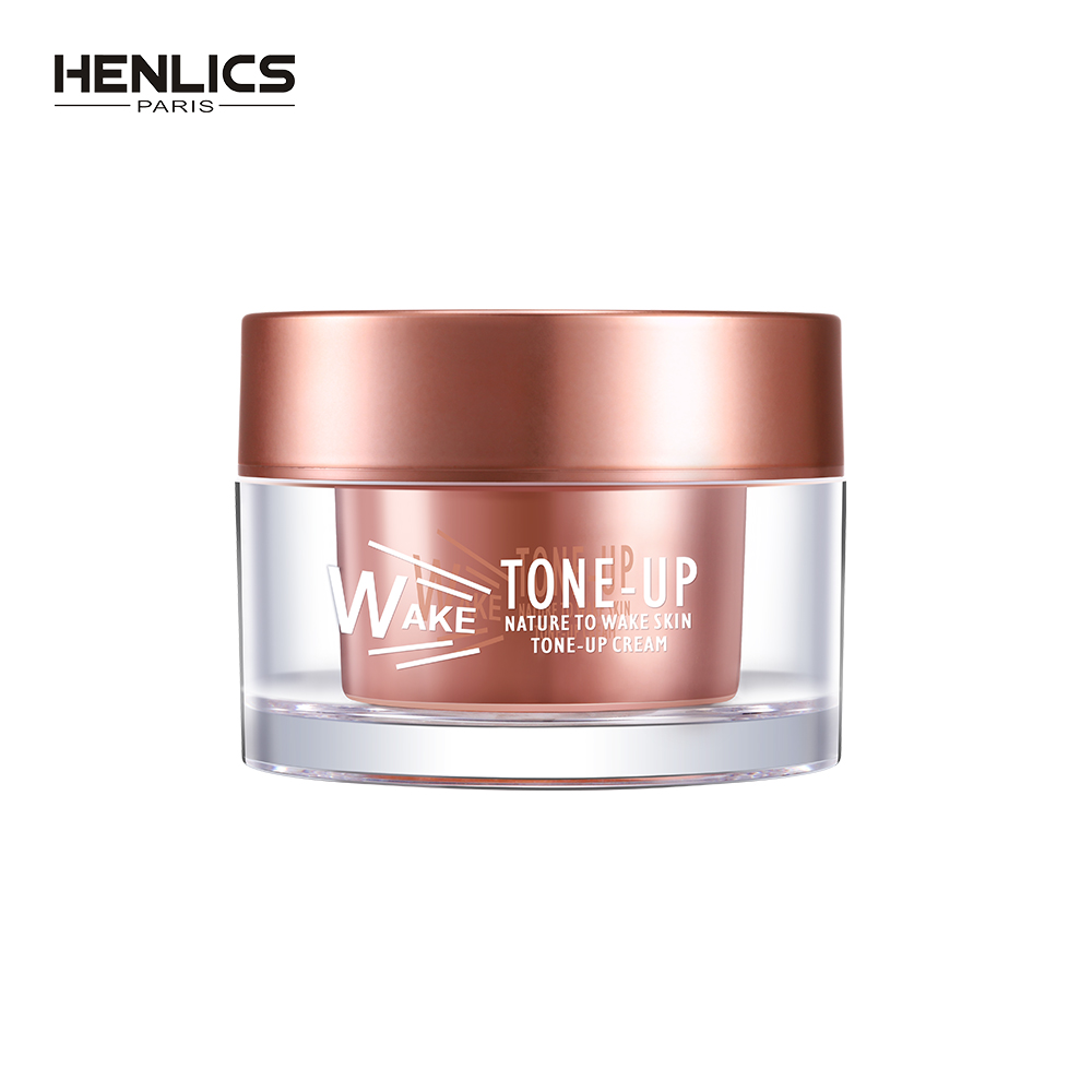 FRANCE HENLICS Nutritious Skin Care Whitening Tone-up Cream Moisturizing Women Face Brighten Primer Makeup Cream 50ml new package taiwan mei yan san bao 3 2 whitening cream for face skin care second generation