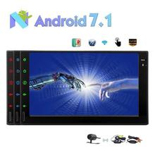 "Android 7.1 Car Stereo Octa Core In Dash Navigation 2Din 7"" Radio Auto Car PC Audio Bluetooth WiFi 4G+Wireless Backup Camera"