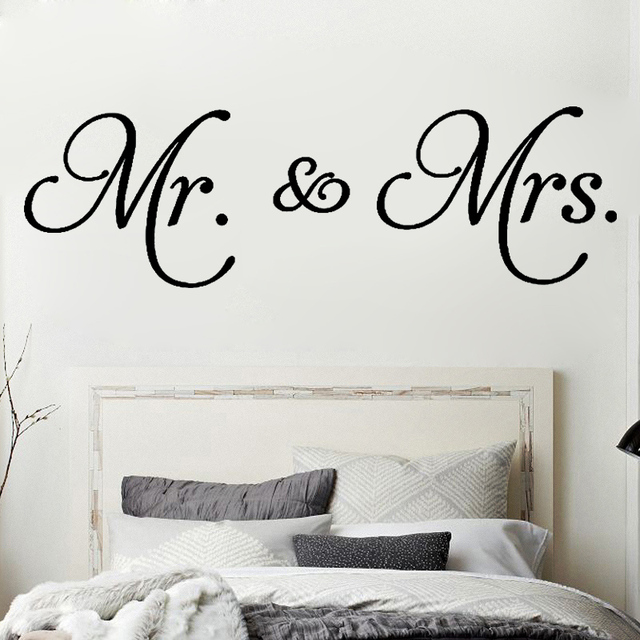 D542 Mr. U0026 Mrs. Quotes Vinyl Wall Decal Living Room Decoration Removable  Modern Minimalism