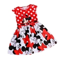 Baby Girl Dresses Children Minkey Minnie Kids Girl Princess Party Dress Clothing