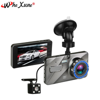 WHEXUNE Car DVR 4 Inch IPS Screen Full HD 1080P Auto Camera Dual Lens Dash Cam Video Recorder Night Vision G sensor Registrator