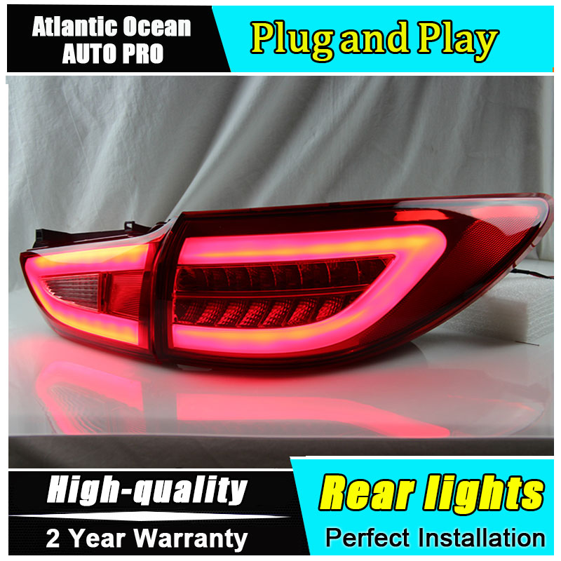 Car Styling for Mazda 6 Taillights 2014 2016 for New Mazda 6 Atenza LED Tail Lamp LED Rear Lamp Fog Light For 1Pair ,4PCS