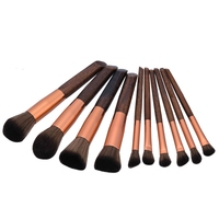Bristle Ebony Synthetic Professional Makeup Brush Set Kabuki Cosmetic Foundation Brushes Case