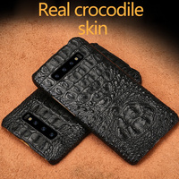 Natural crocodile skin phone case For Samsung A70 note 10 A50 Business luxury Fall protection cover for Samsung S10 plus S9 8 A9