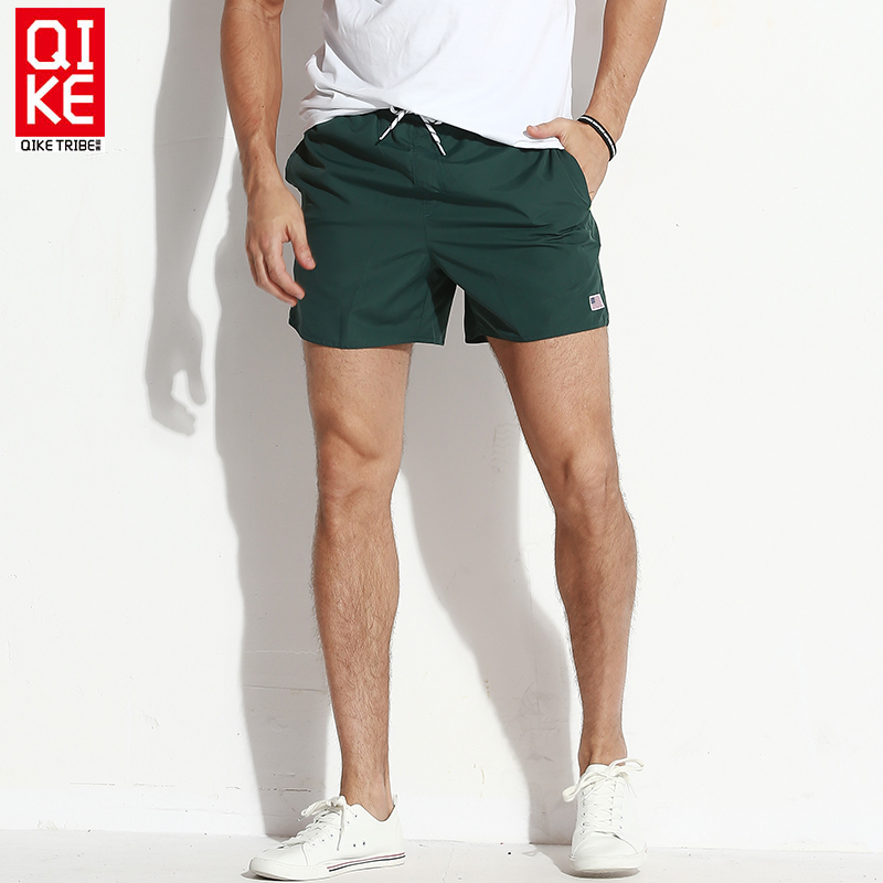 Board shorts men swimwear solid beach surf bermudas swimming trunks male liner bathing suits drawstring quick dry swimsuits man midland manchester