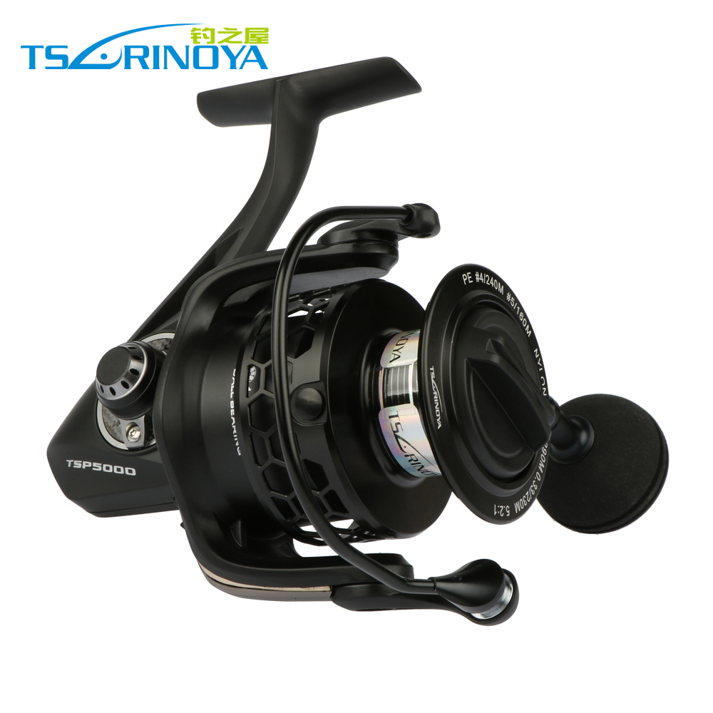 Trulinoya Full Metal 11+1BB 5.2:1 Sea Fishing Reel Good Fishing Spinning Reel For All Fishing TSP4000 5000 7000 Series