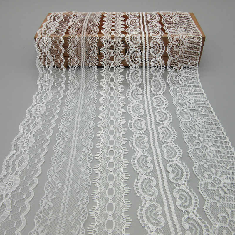 10yards//lot 22mm Lace Ribbon Roll Tape Diy Clothing Wedding Dress Embroidered