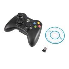 Black White 2 4G Wireless Game Controller Vibration Gamepad Joystick Gaming PC Gamer Game Pad For