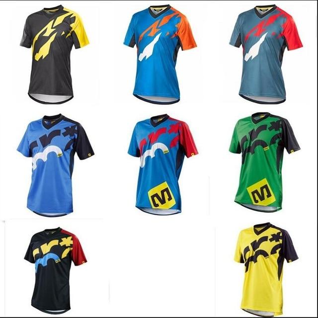 c6f1aa096 Short Sleeve Pro Cycling Jersey Offroad Bicycle Maillot MTB Shirt Downhill  DH MX Uniform Mountain Bike Clothing Motocross Wear