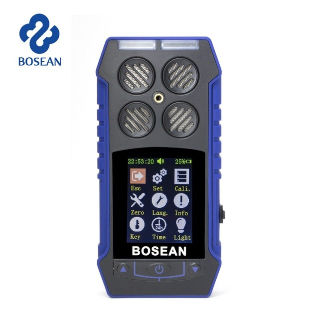 3 in 1 CO O2 Oxygen Carbon Monoxide Flammable Gas Analyzer Digital Time Gas Leak Detector with Alarm Gas Air Quality Monitor