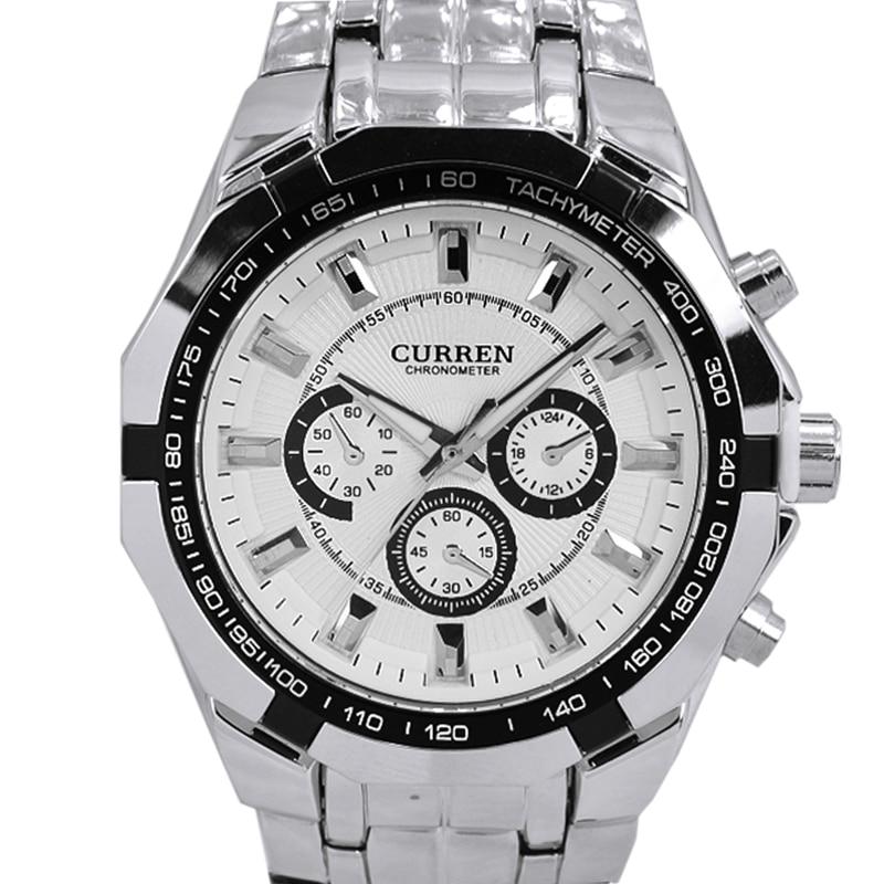 CURREN Mens Watches Top Brand Luxury Men Military Watch Full Steel Men Sports Watches Waterproof Wristwatch