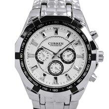 CURREN Mens Watches Top Brand Luxury Men Military Watch Full Steel Men Sports Watches Waterproof Wristwatch relogio masculino