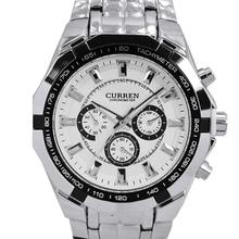 Curren Mens relojes de primeras marcas de lujo Men Watch militar completo acero relojes de hombre relojes impermeables relógio masculino