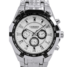 CURREN Mens Watches Top Brand Luxury Men Military Watch Full Steel Men Sports Watches Waterproof Wristwatches relogio masculino