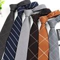 Mens Clothing Accessories Fashion Artificial Wool Striped Plaid 6cm Tie Cravat Gravata Slim Necktie Ties For Men Neckwear Bolo