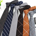 Ropa para hombre Accesorios de Moda de Rayas de la Tela Escocesa de Lana Artificial 6 cm Lazo Corbata Gravata Delgada Corbata Para Hombre Corbatas Bolo