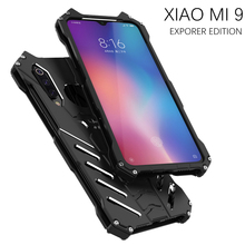 Luxury Batman Kickstand สำหรับ Xiaomi 9 9SE อลูมิเนียมกันชนโลหะกลับสำหรับ Xiaomi 9 9 SE