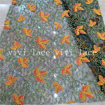 5 yards  BB0006 # maple leaf diamond tulle net mesh lace fabric for wedding/ sawing/party dress