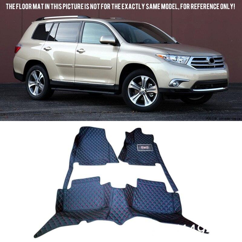 For Toyota Highlander XU40 5 Seats 2008 - 2014 Durable Custom Waterproof Car Styling Front & Rear Floor Mats Full Set