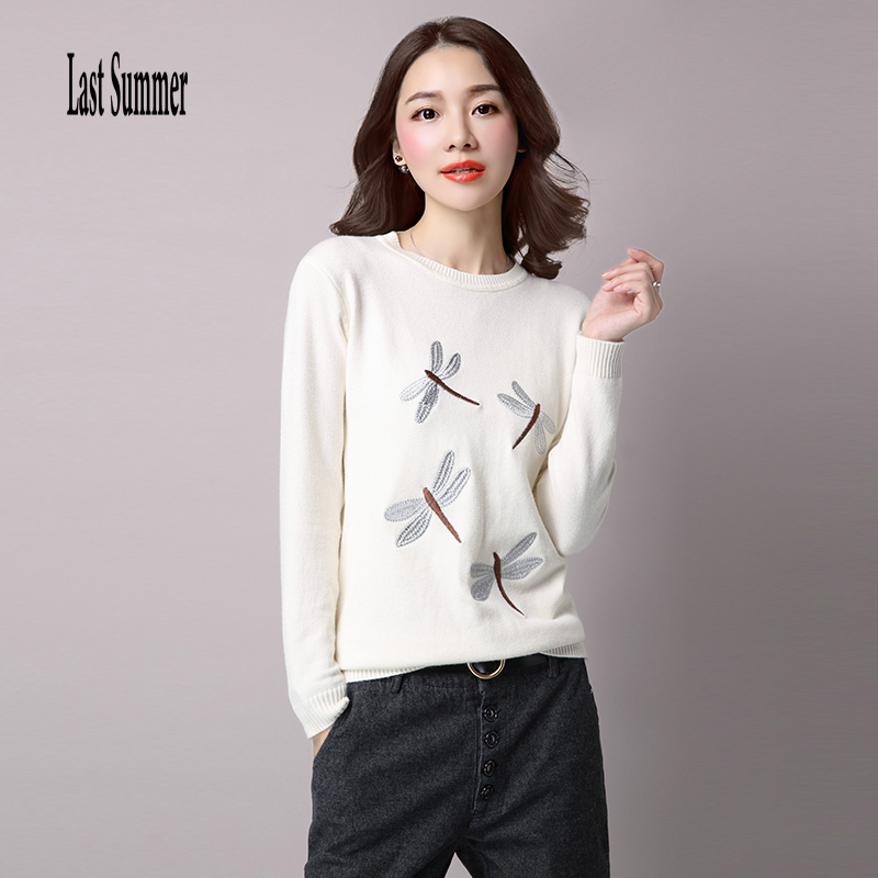 Free Shipping New Fashion 2017 Autumn Winter for womens Cashmere sweaters Thick loose Warm Knitted Sweet