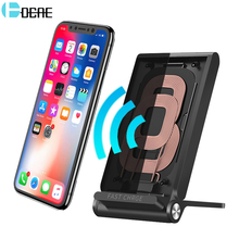 DCAE Wireless Charger for iPhone X 8 Plus 10W Qi Fast Wireless Charging Pad Stand for Samsung Note 8 S9 S8 Plus S7 S6 Edge