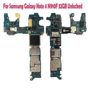 Image 4 - Tigenkey Dành Cho Samsung Note4 N910F/N910P/N910v Bo Mạch Chủ 32GB Với Chip Imei Hệ Điều Hành Android OS Logic Ban