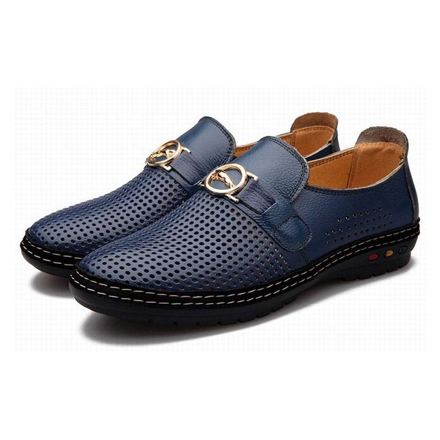 Men Casual Fashion Sandals Leather Shoes from china low shipping fee O02N01G