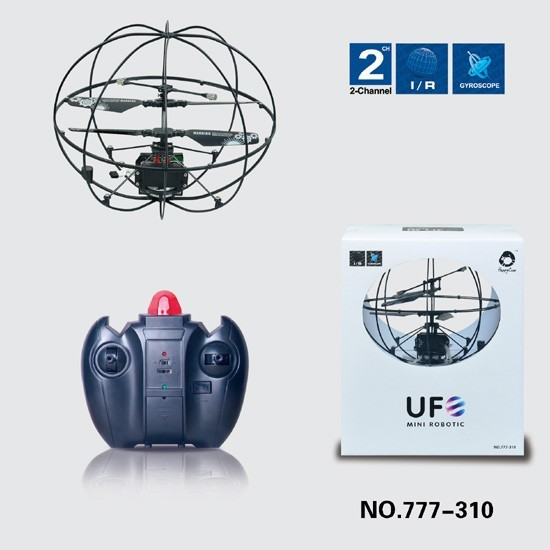 777-310 2-CH Infrared Mini RC UFO Quadcopter with Gyro LED Light RTF Educational Children Toy Flying ball remote control toy