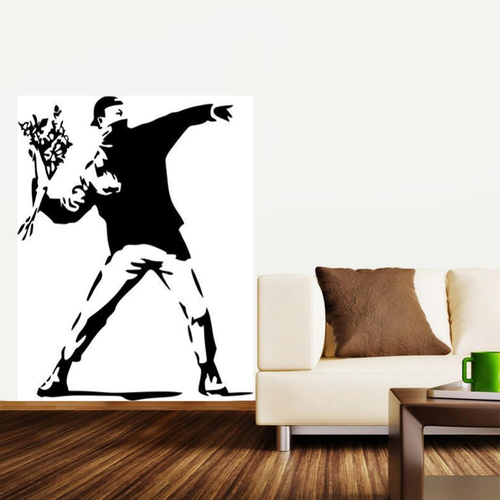 Décoration Murale Vinyle Us 9 99 Banksy Wall Stickers Vinyl Decal Wall Decor Mural Wallpaper Wall Art Home Decoration In Wall Stickers From Home Garden On Aliexpress