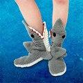 Chupar comer pies Tiburones Felpa calcetines zapatos cosplay FRESCO Boca Grande caliente del invierno de punto
