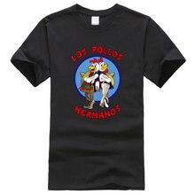 Camisetas de LOS POLLOS Hermanos para hombre, camiseta de manga corta famosa, ropa de marca harajuku, camisetas para hombre, camisetas de hip hop 2019