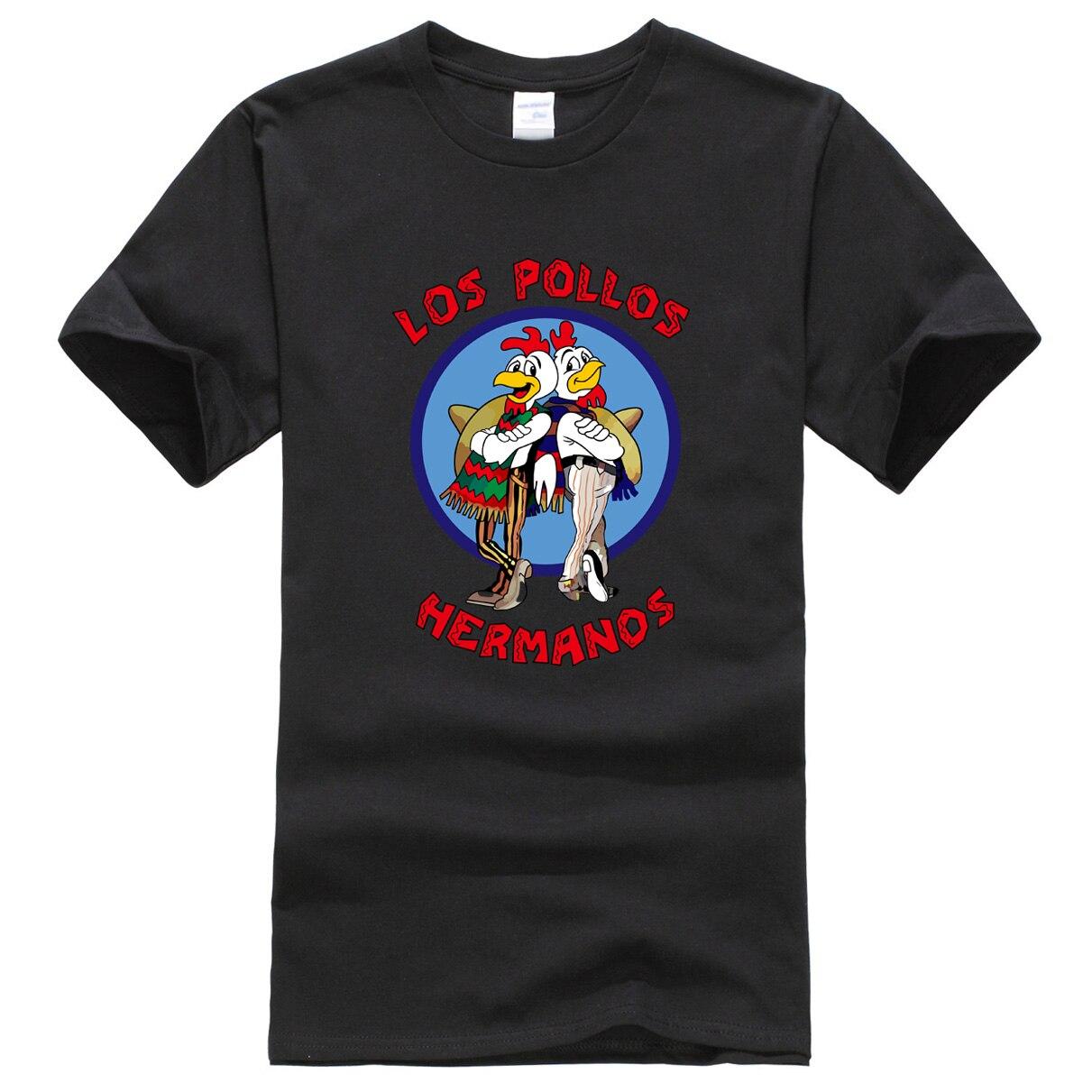 2019 camisetas para hombre LOS POLLOS gemelos Breaking Bad famoso cool camiseta harajuku ropa de marca camiseta para Hombre Camisetas para hombre hip hop
