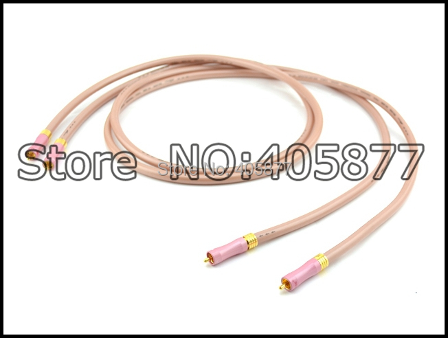 цена на High performance OFC Wire RCA interconnect with Gold plated RCA plug 1m pair Analog Interconnects