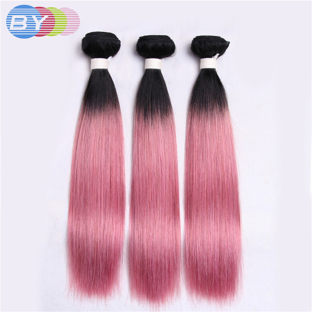 By Pre Colored Non Remy Hair Extension Brazilian Straight Hair Human