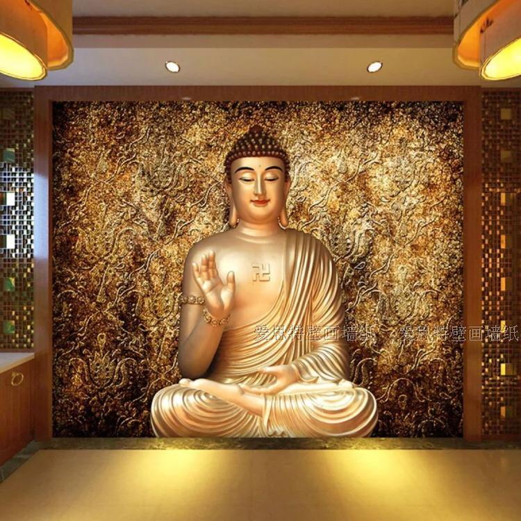 3d Wallpaper For Home Wall Price In India Custom Photo Wallpaper Custom 3d Stereo Buddha Wallpaper
