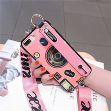 Shoulder strap fashion digital camera case for coque iphone xs max xr x 8 6 s 7 plus girl neck lanyard wrist holder cover