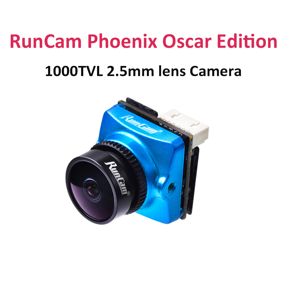 RunCam Phoenix Oscar Edition 1000TVL FPV Camera 2.5mm Lens 1/3 120dB WDR Sensor NTSC / PAL Switchable for FPV Racing DroneRunCam Phoenix Oscar Edition 1000TVL FPV Camera 2.5mm Lens 1/3 120dB WDR Sensor NTSC / PAL Switchable for FPV Racing Drone