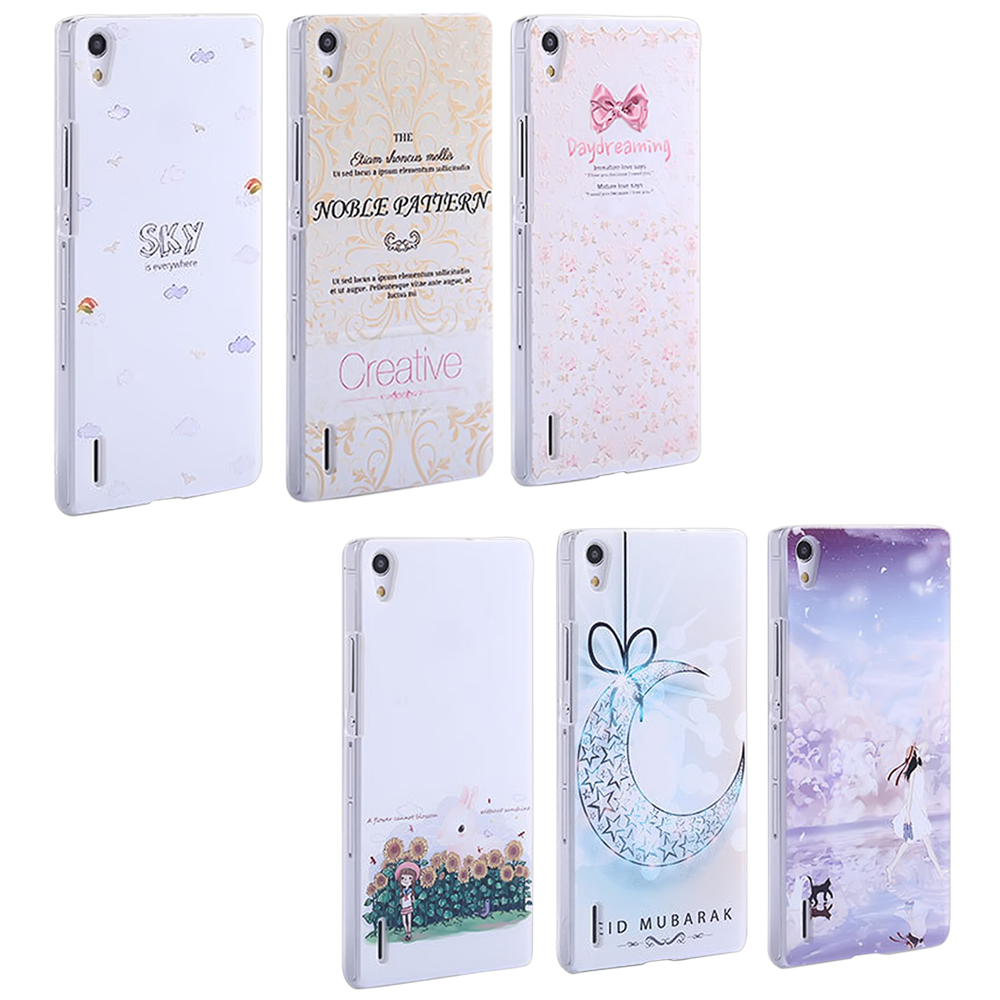 NEW Fundas Huawei ascend p7 Case 3D PC Back Cover mobile phone Hard ...