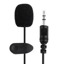 Прямая поставка внешний 3,5 мм клип-на лацкане петличный микрофон для смартфона ПК ноутбука