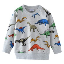 Kids dinosaurs sweatshirts cotton winter autumn baby boys girls t shirts all printed animals for boy kid clothes