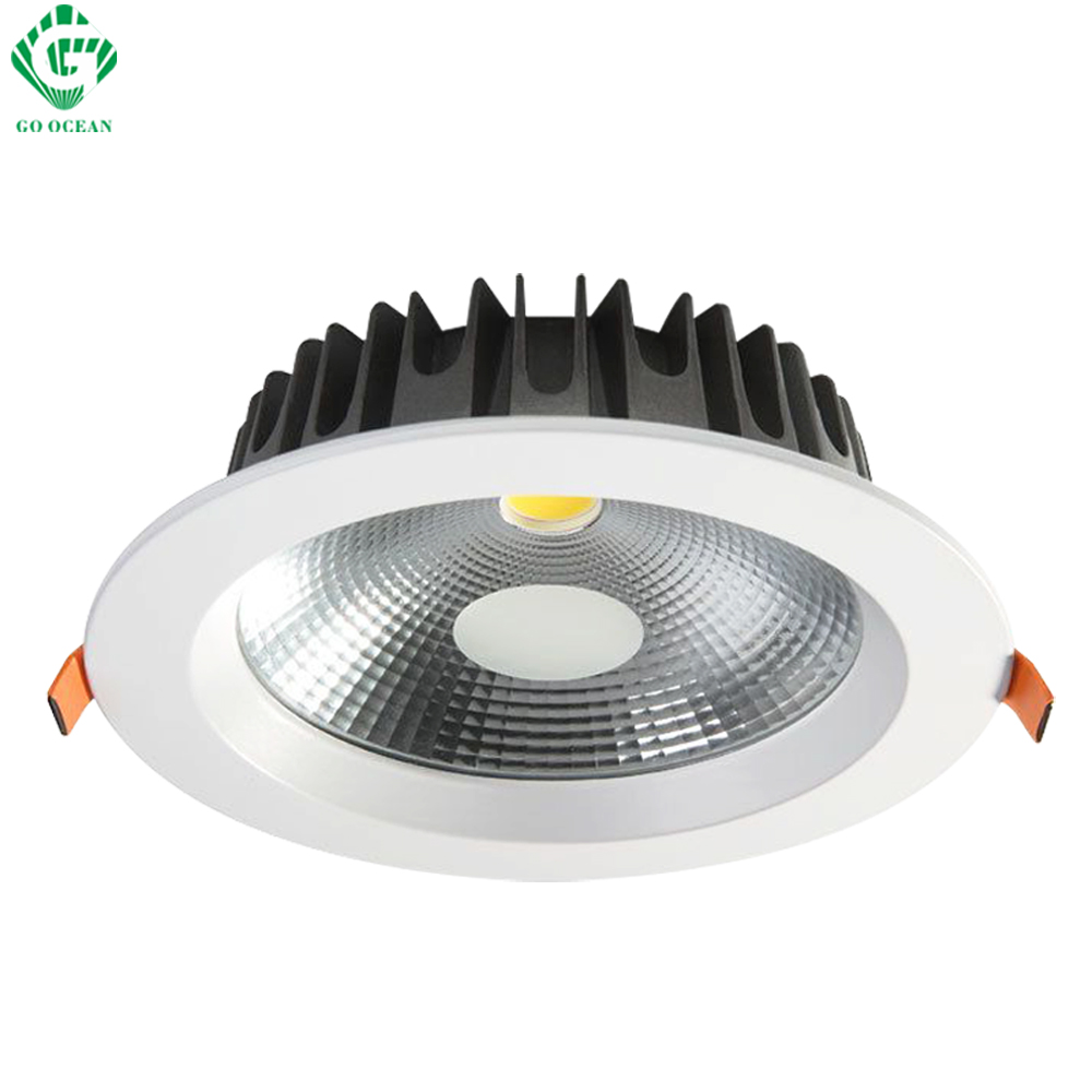 Downlights Downlight LED 7W 12W 20W 30W 40W 85-265V Dimmable LED Indstøbt COB Ceiling Down Lights Bathroom Kitchen Spot Lighting