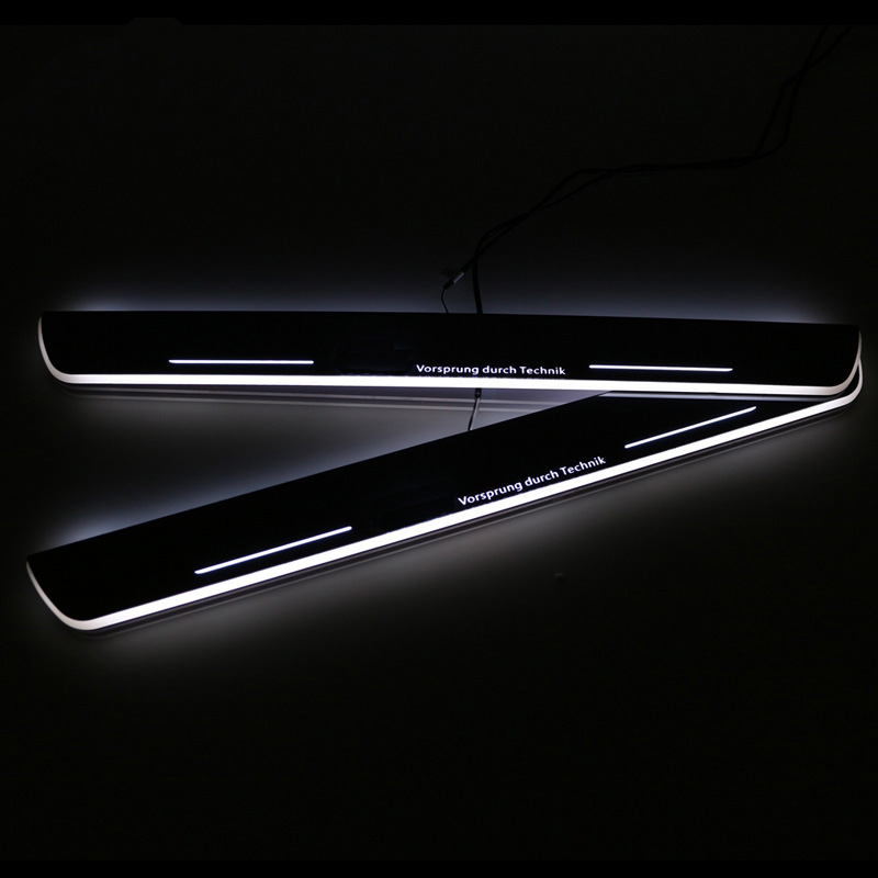 SNCN LED Car Scuff Plate Trim Pedal Door Sill Pathway Moving Welcome Light For Audi Q5