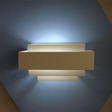 Modern brief multicolour 85-265V 5W led wall lamp sconce salon walls sconces modern bed light Size:25*10*13CM