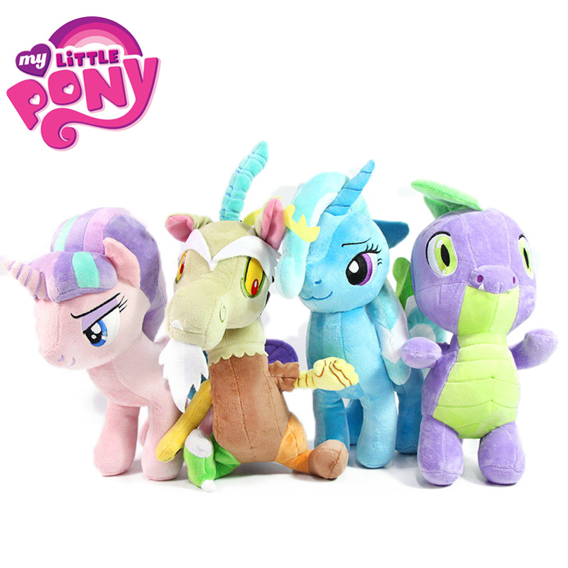 30-33cm My Little Pony Toys Friendship Is Magic Starlight Glimmer Trixie Spike Discord Plush Toy Soft Stuffed Animal Dolls
