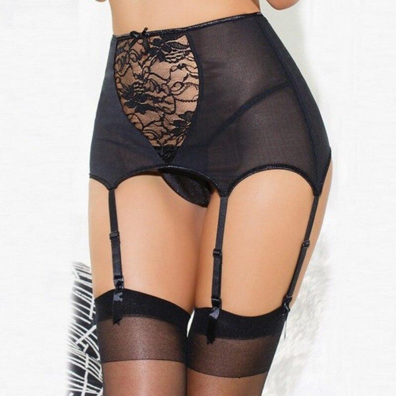Women Jartiyer Sexy Lingerie High Waist Lace Stocking Garter Belt Suspender Lingerie Bustier Vintage Goth Garter Porte Jarretell