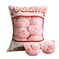 SAILEROAD 11CM 12pcs/bags Pink Pig Plush Animal Pig Toys Soft Stuffed Cartoon Short Stuffed Doll for Chilren Christmas Gift
