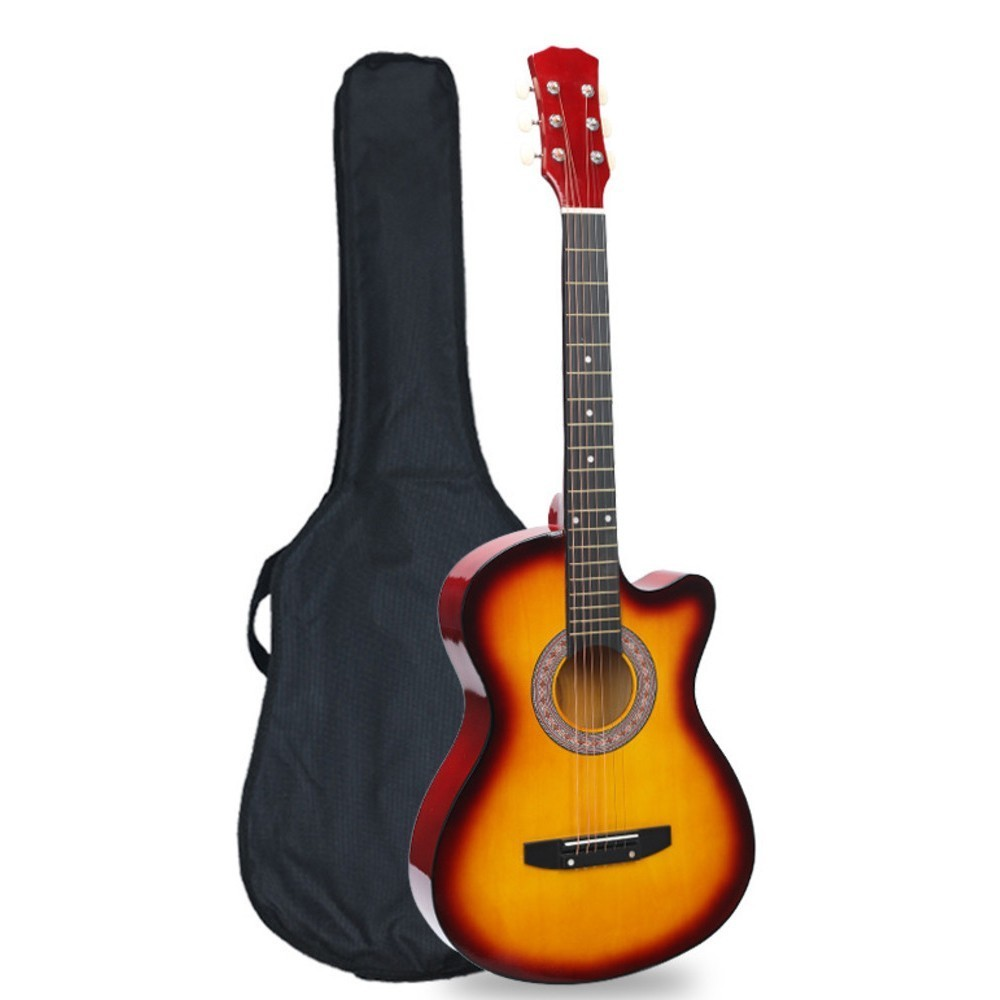 38 Inch Folk-wood guitar beginner guitar student beginner practice adolescent introduction to both male and female WJ-JX6 diduo 40 inch 41 acoustic guitar beginner entry student male and female instrument wound guitarra