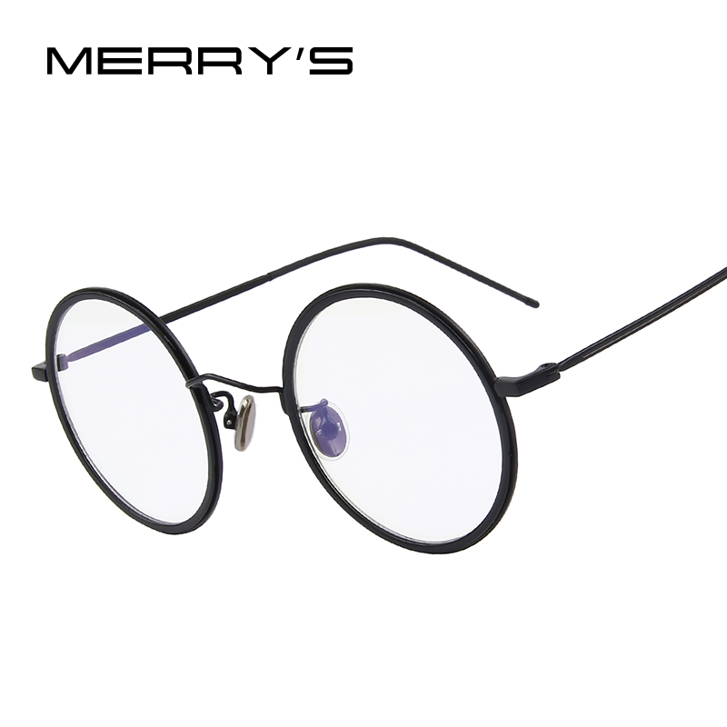 MERRYS Fashion Women Round Optical Frames Eyeglasses Men Classic Glasses S8109