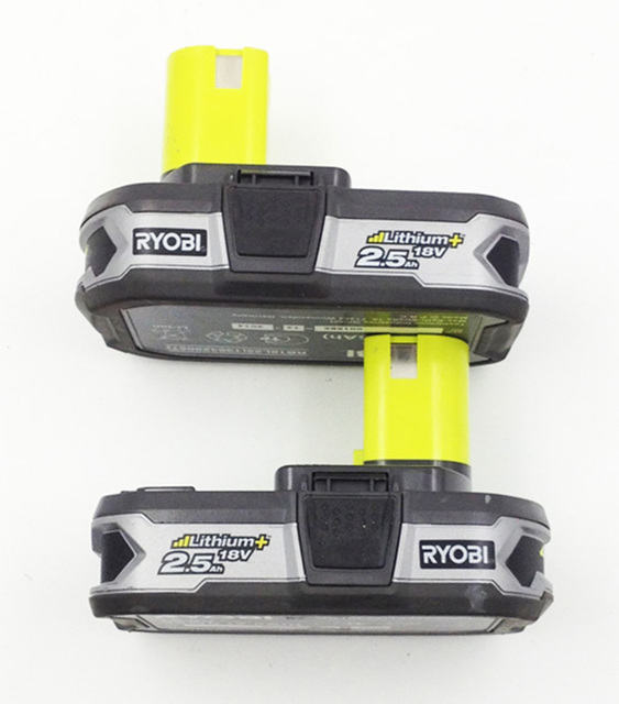 US $69 9 |2pcs Used Ryobi RB18L25 18V 2 5ah One Plus Li Ion High Capacity  Battery for Power Tools Replace P103, P104, P105, P108-in AC/DC Adapters