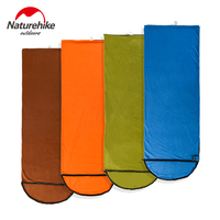Naturehike Summer Camping Sleeping Bag Soft Fleece Sleeping Bags Envelope Warm Weather Spliced Left Right Splicing